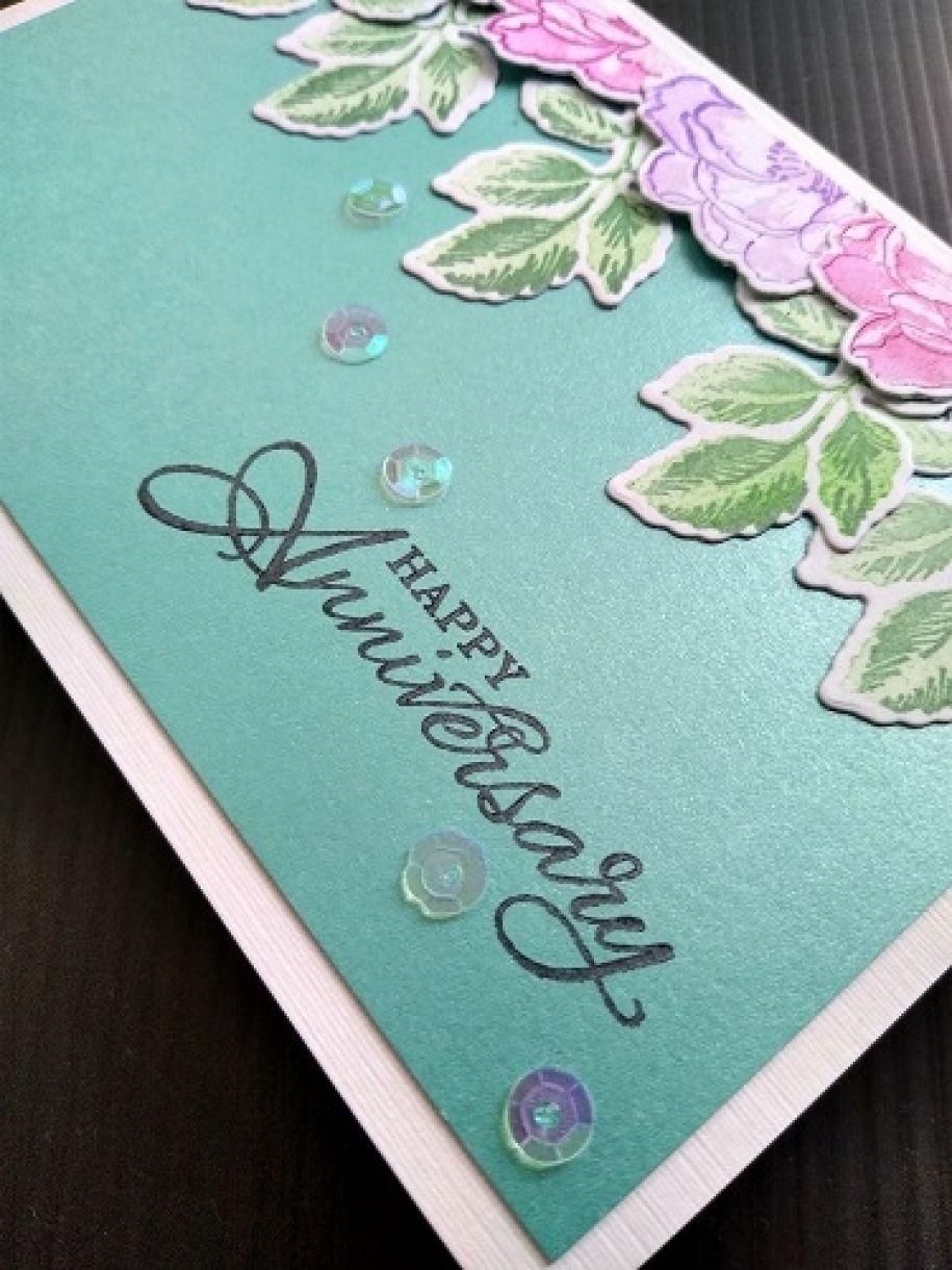 Die Cut Flower Cards Anniversay 2
