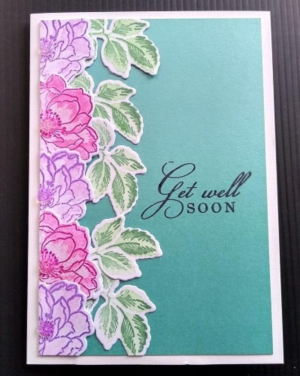 Die Cut Flower Cards Get Well Soon 1