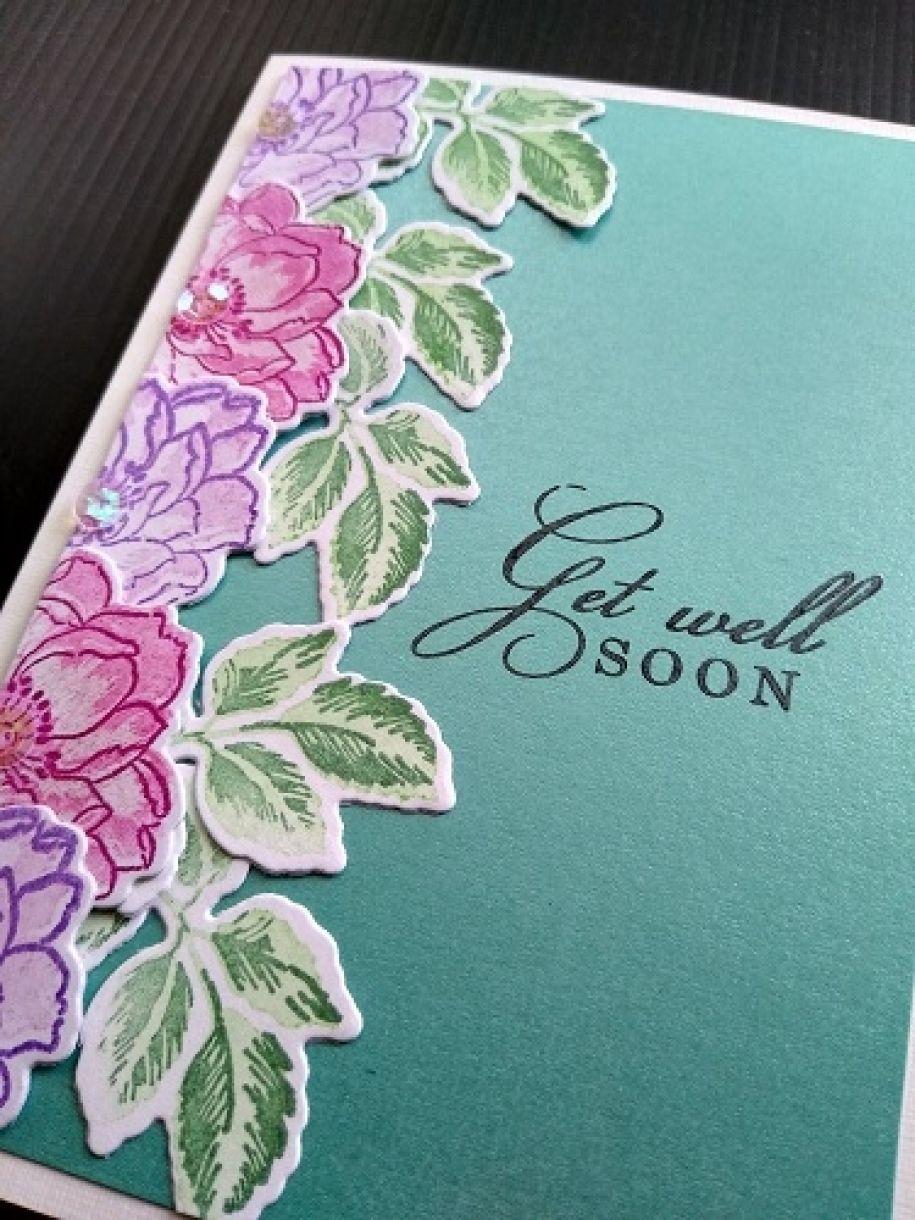 Die Cut Flower Cards Get Well Soon 3