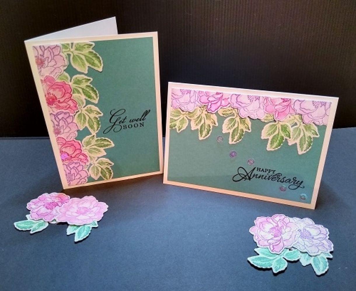 Die Cut Flower Cards Main