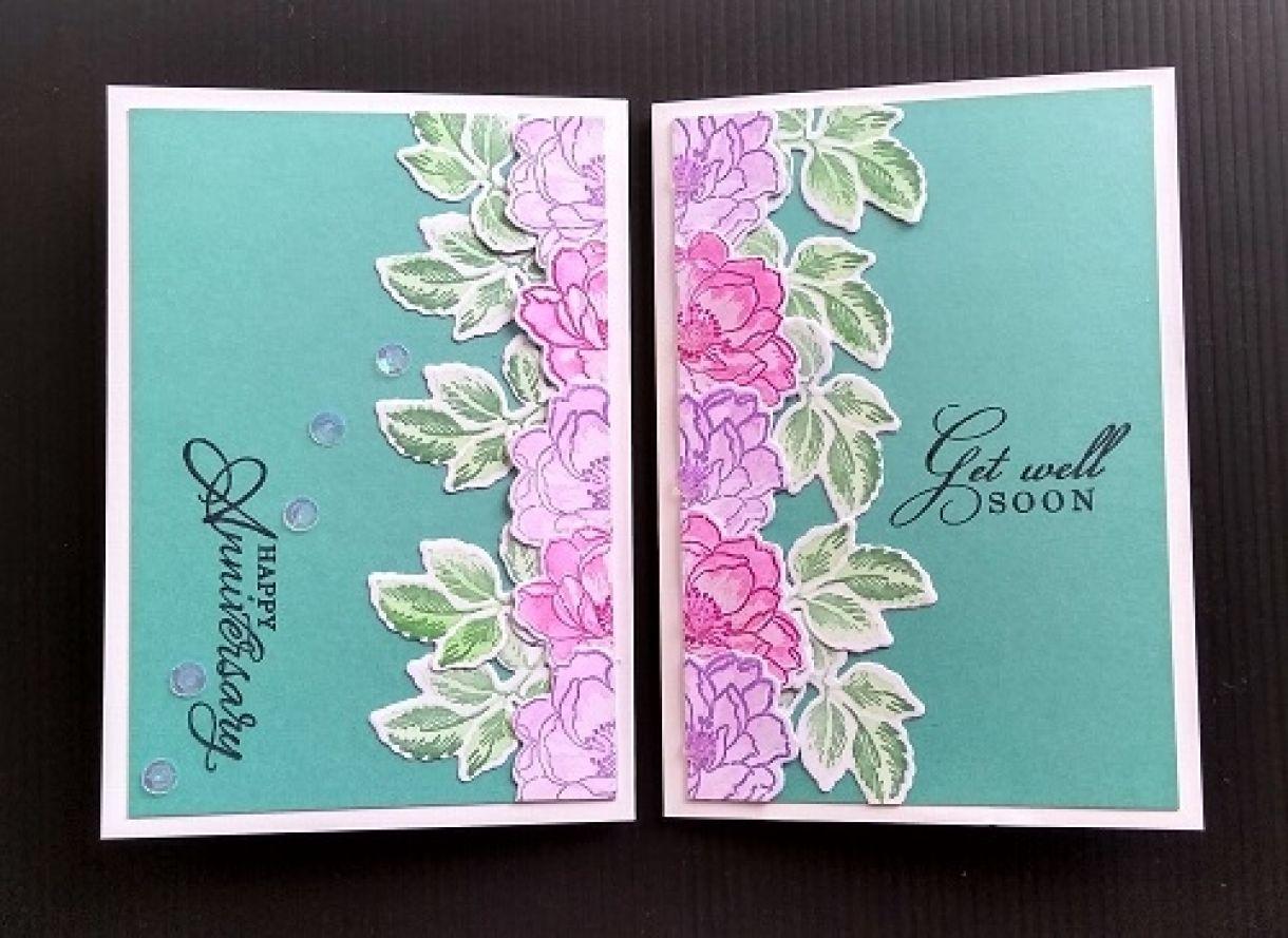 Die Cut Flower Cards