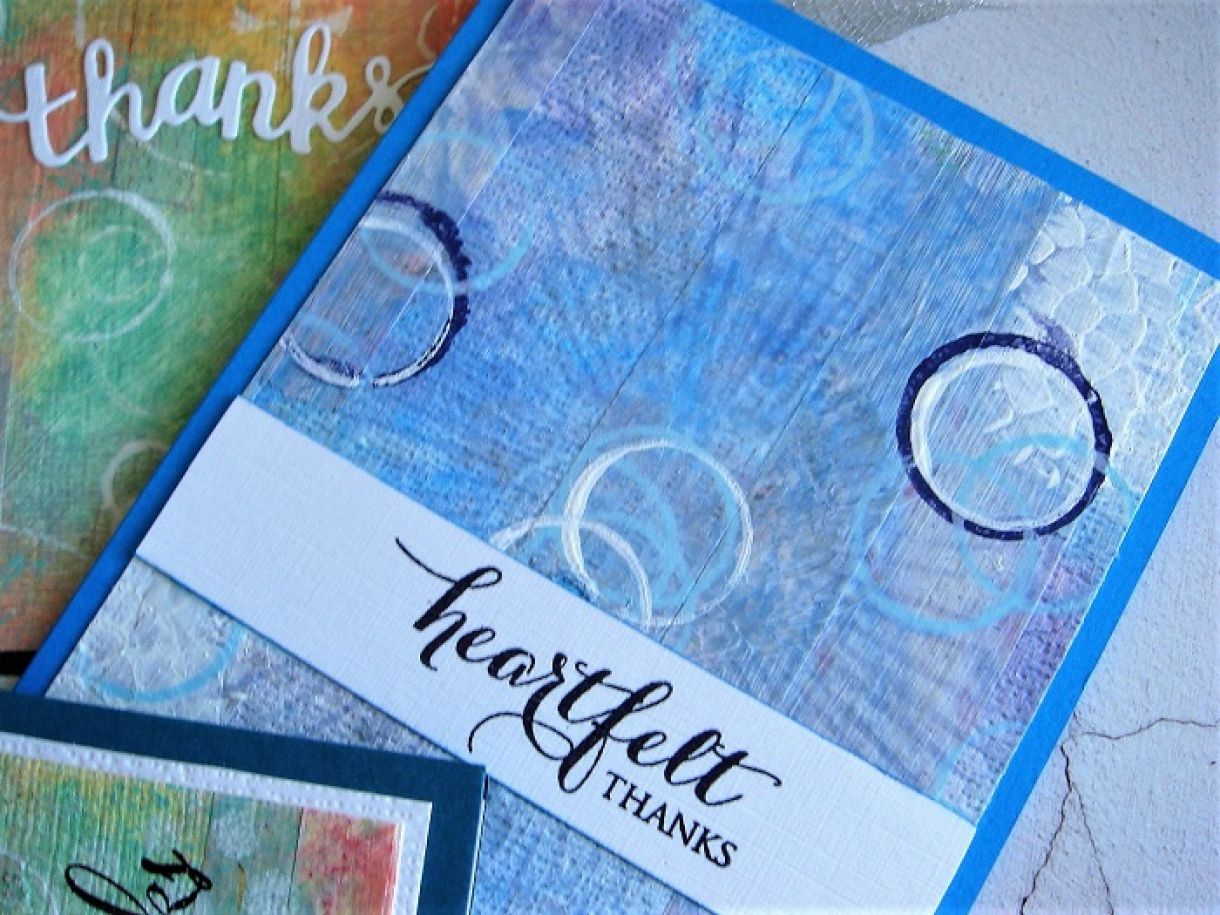 Distress Paints Thank You Cards 17