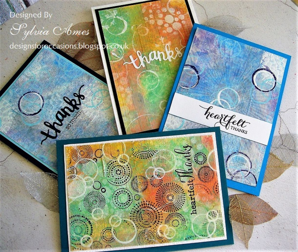 Distress Paints Thank You Cards 20
