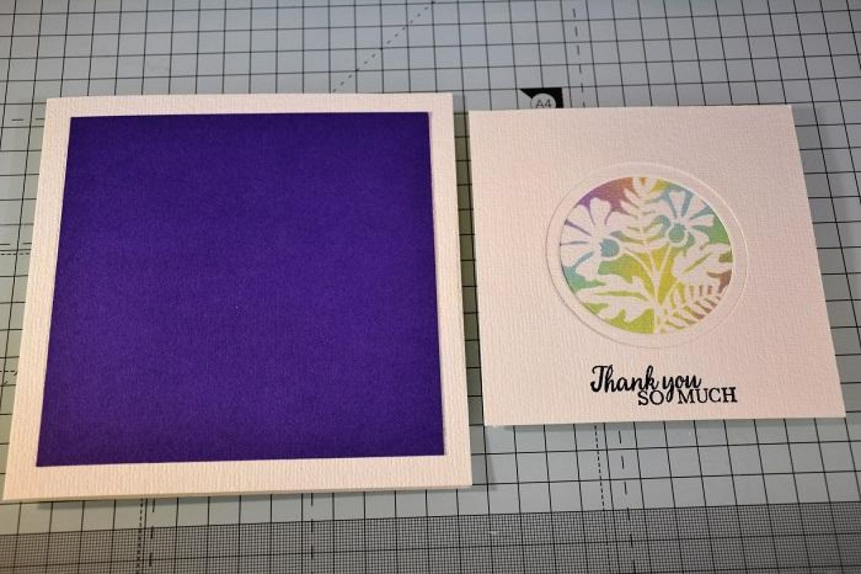 Double Aperture Thank You Card Tutorial 4