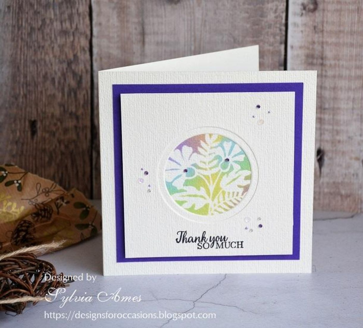 Double Aperture Thank You Card Tutorial 6