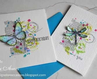 Butterflies and Dragonflies Cards