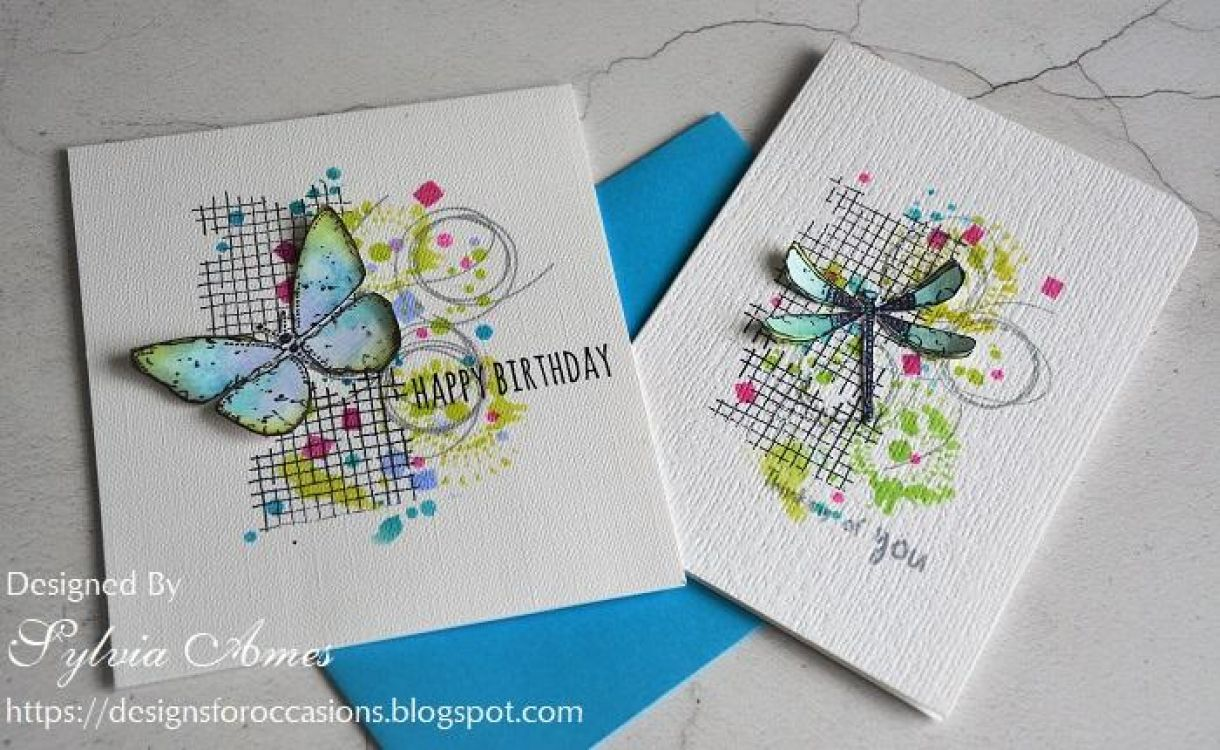 Dragonfly And Butterfly Cards 10