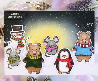 Merry Christmas Critter Card