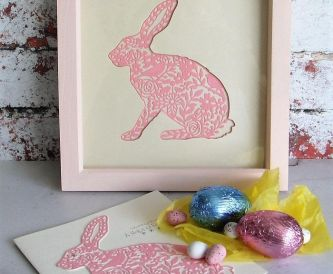 Die Cut Bunny Easter Card and Gift