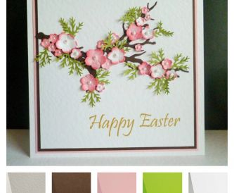 Project - Pretty 'Cherry Blossom' Handmade Easter Card