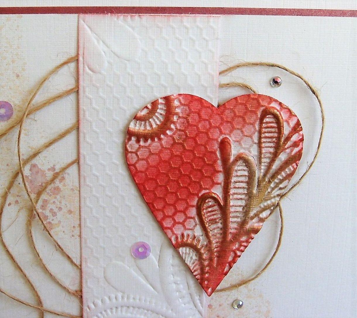 Embossed Heart Anniversary Card 3