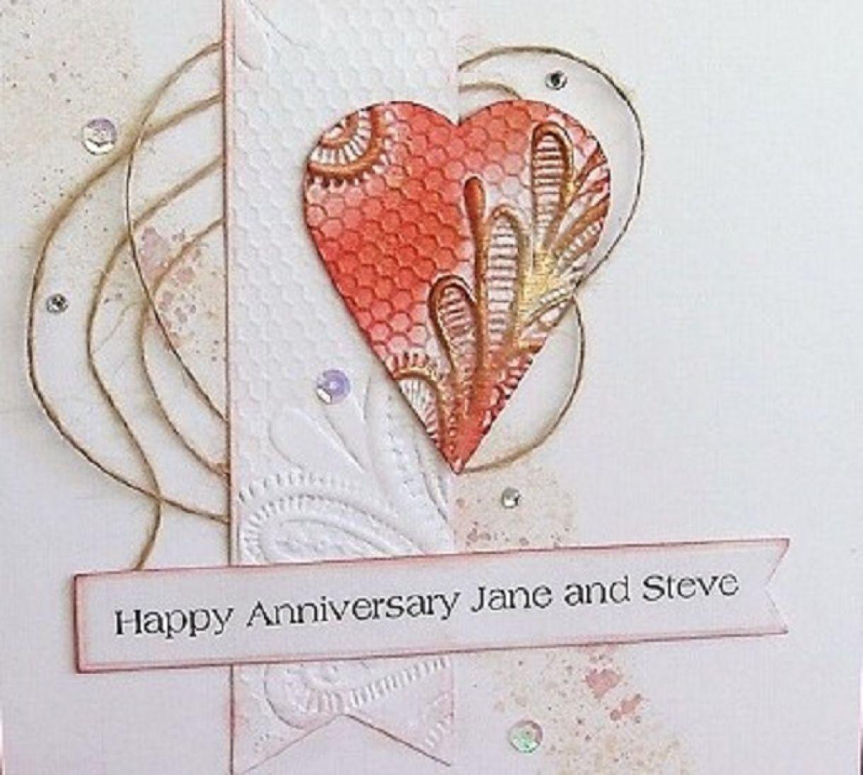 Embossed Heart Anniversary Card 4