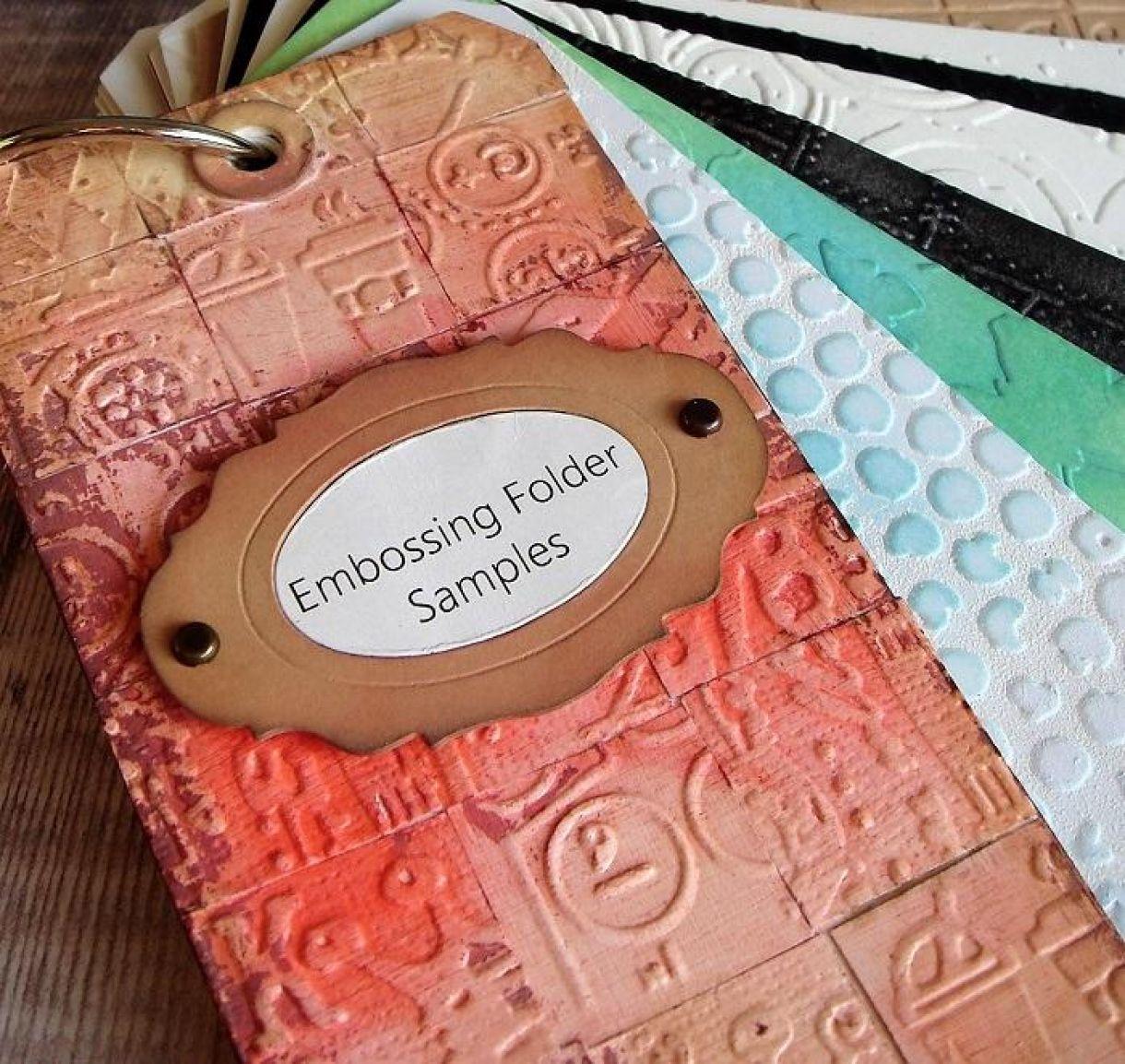 Embossing Folder Organiser Tag Book 8