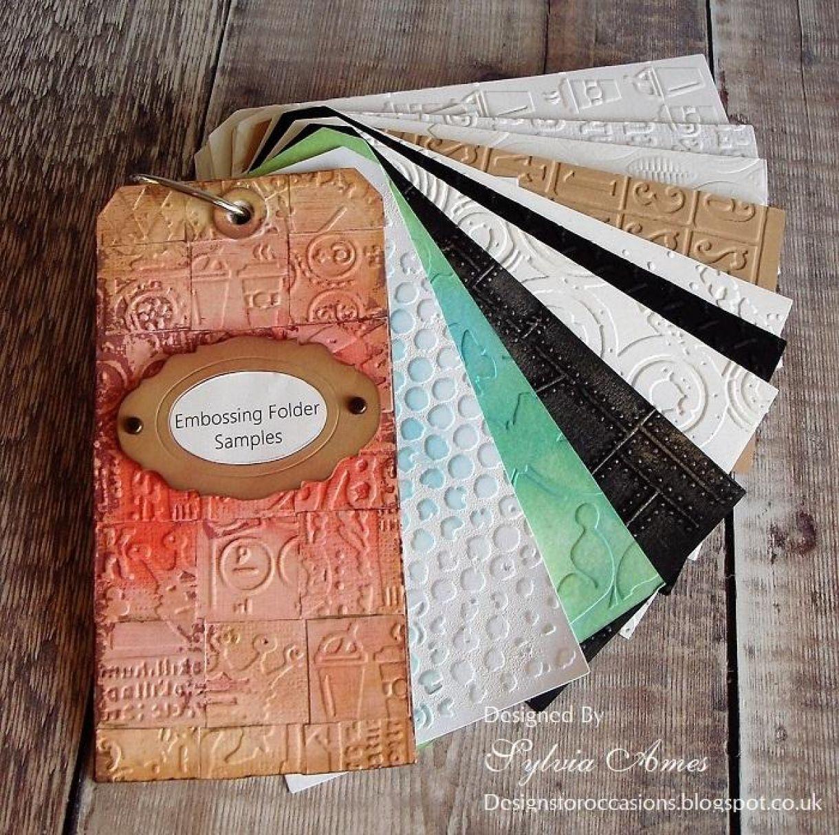 Embossing Folder Organiser Tag Book 9