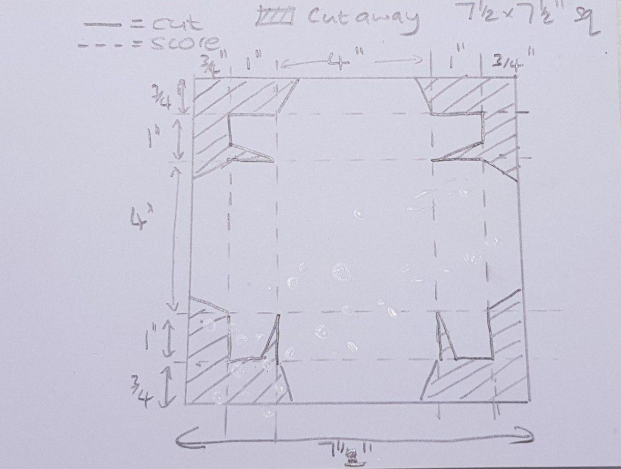 Exp Box Nursery Lid Cutting Diagram