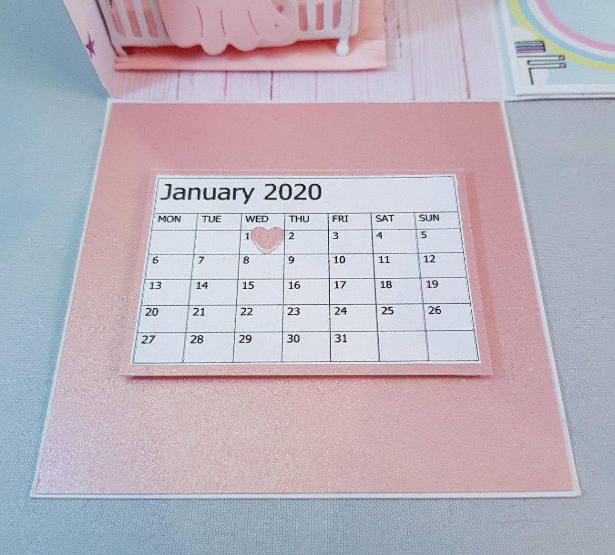 Exp Box Nursery Pink Calendar