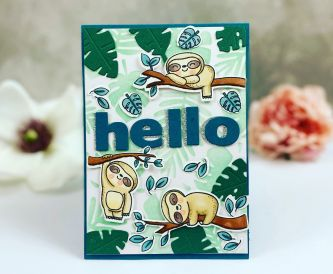 Adorable Sloth Card