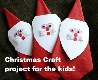 Craft Tutorial - Cute Father Christmas Napkin Rings