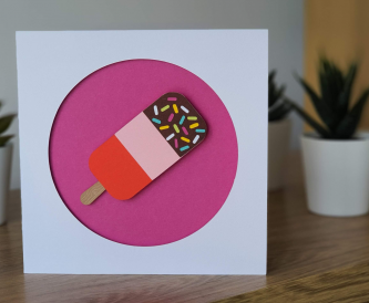 Summertime Treats - A Layered Lolly Card