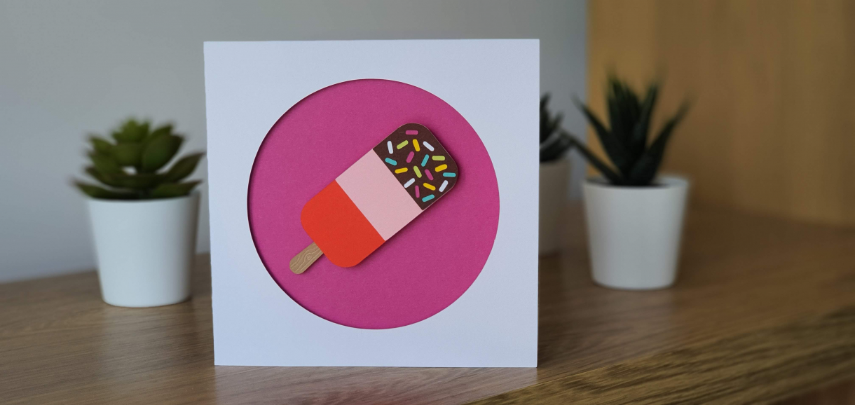 BFN - Staged Ice Lolly Card photo