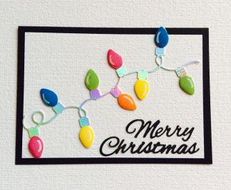A Pretty Christmas Card Using Scraps