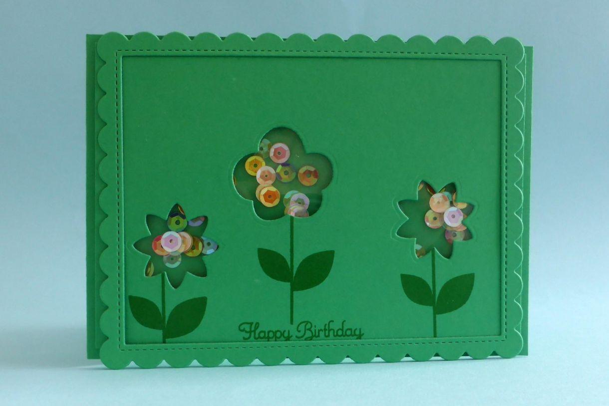 Green Flower Shaker 8