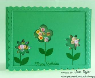 Flower Shaker Card