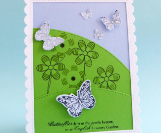 Scenic Butterfly Card