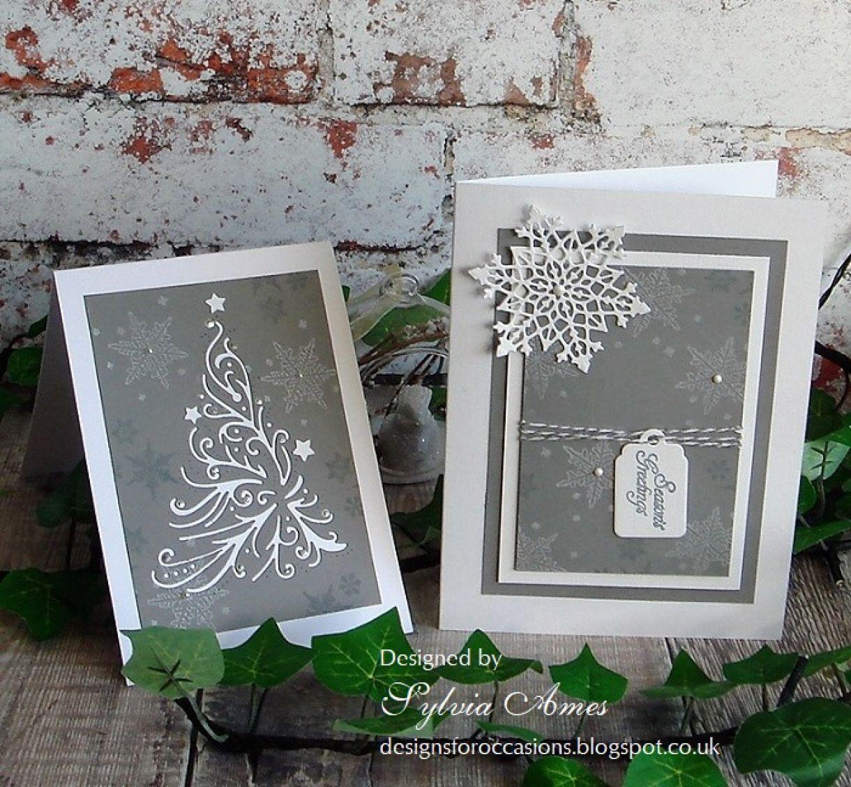 Grey And White Snowflake Christmas 4
