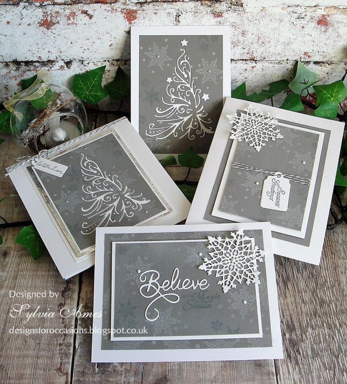 Grey And White Snowflake Christmas 8