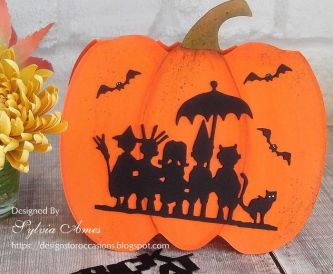 Pumpkin Shaped Halloween Card