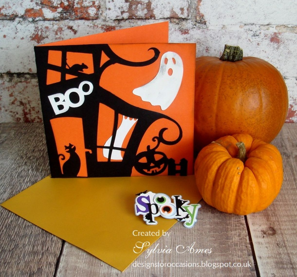 Halloween Card Orange