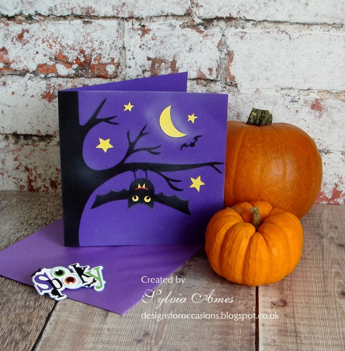 Halloween Card Purple