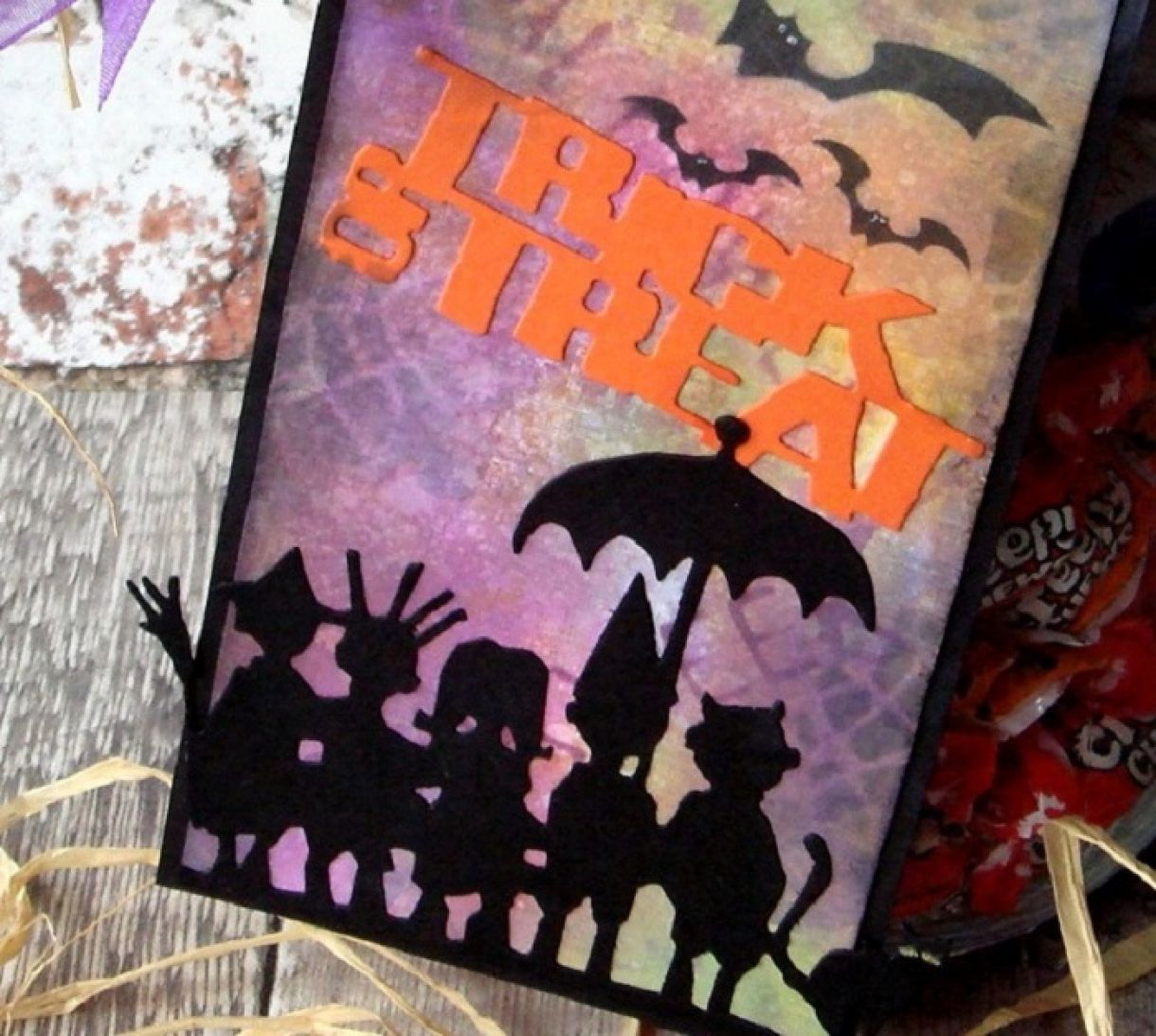 Halloween Tags With Distress Inks And Stamps 3