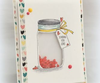 How to make a shaker card - Jar of Hearts