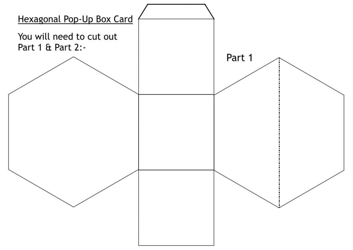 Hexagonal Pop Up Box Card 1