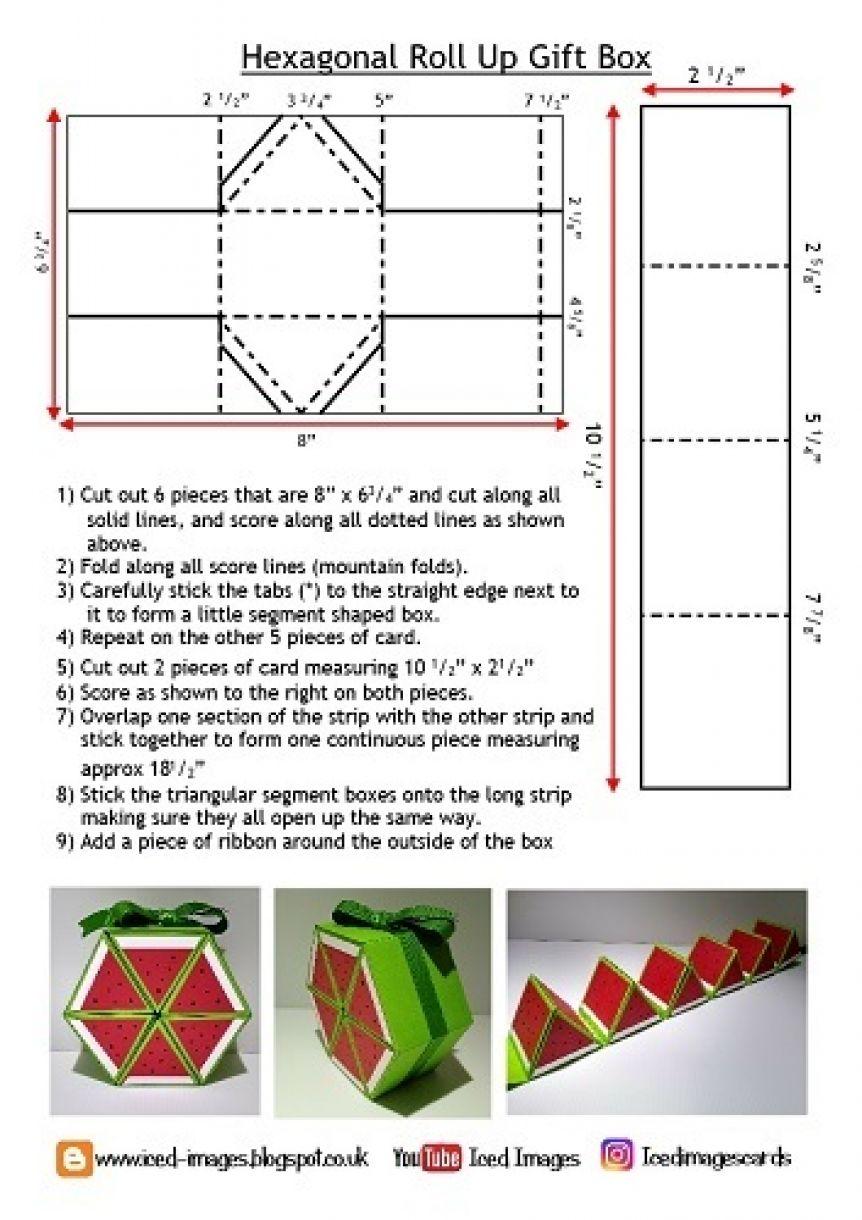 Hexagonal Roll Up Gift Box Template Copy