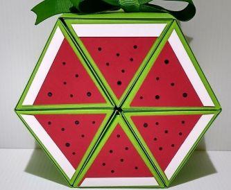 Hexagonal Roll-Up Watermelon Gift Box