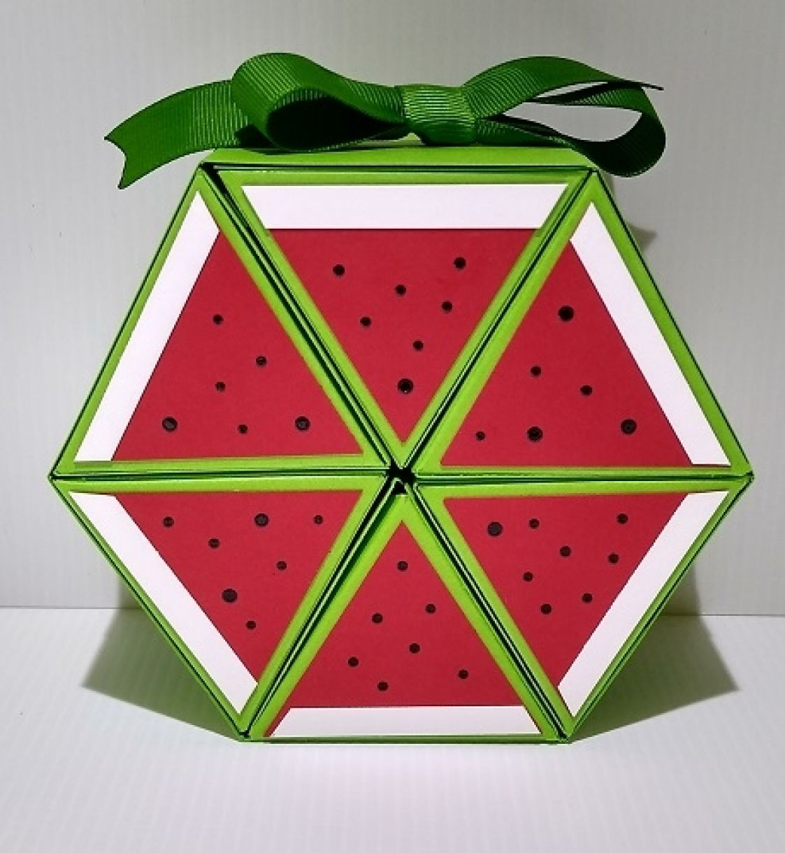 Hexagonal Roll Up Watermelon Gift Box 1