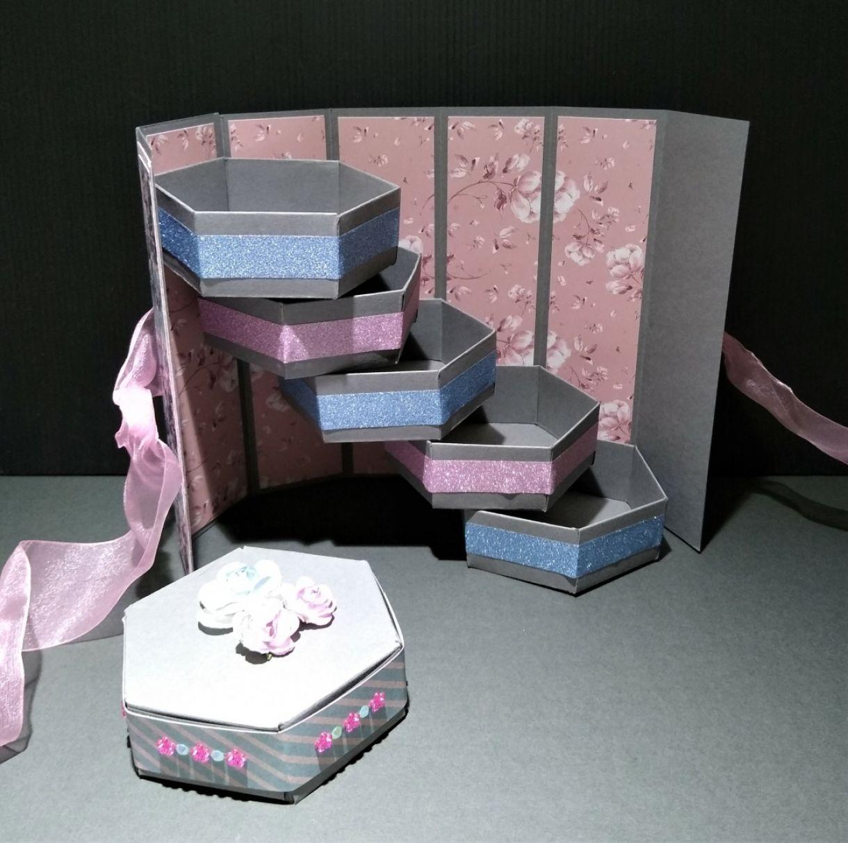 Hexagonal Stacked Gift Box 3