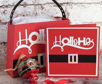 Ho-Ho-Ho Gift Bag And Matching Card
