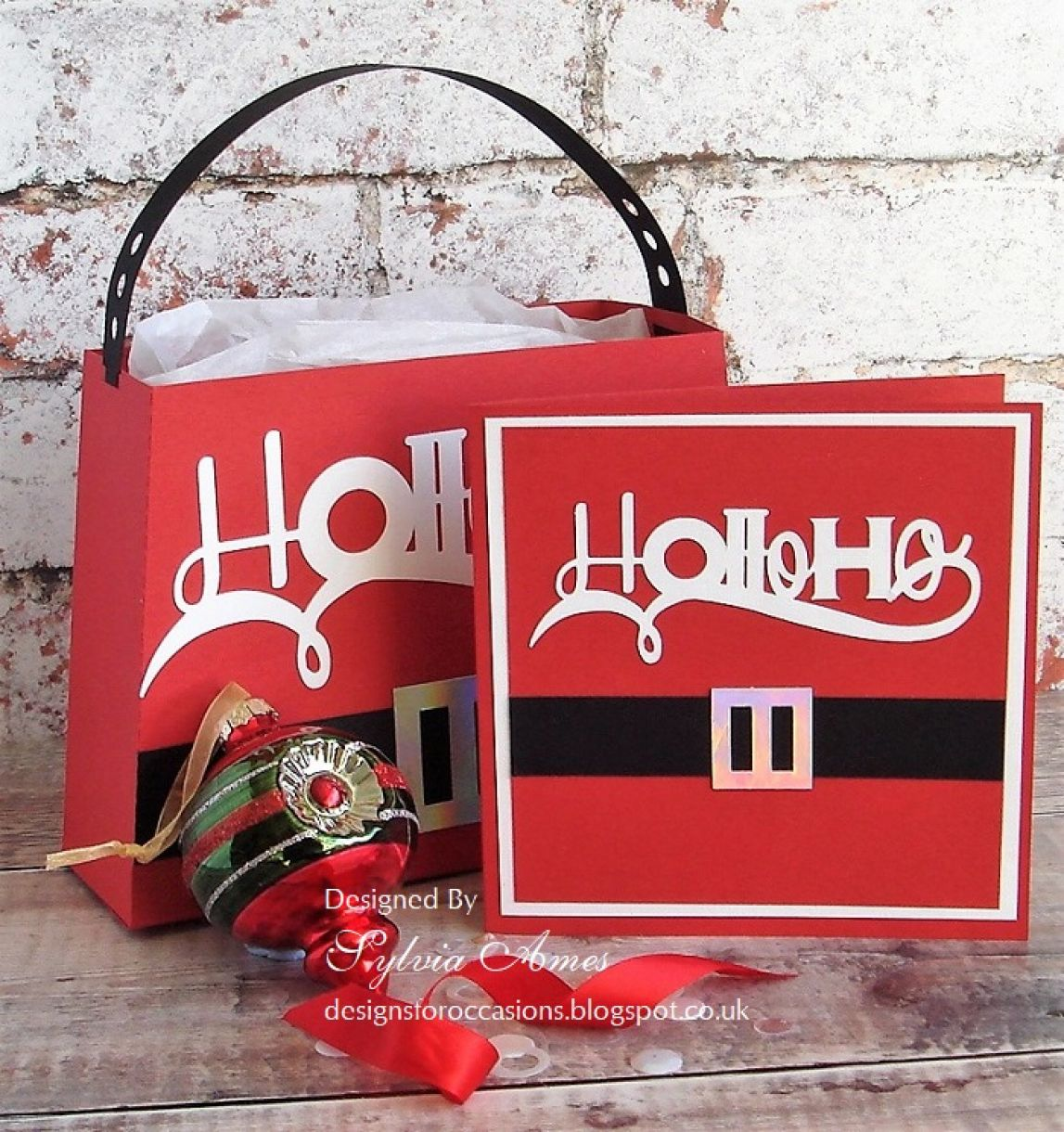 Ho Ho Ho Gift Bag And Card