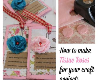 How to Make Little Tissue Roses for Craft Projects