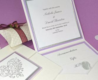 DIY Wedding Stationery - how to make a pocket fold wedding invitation