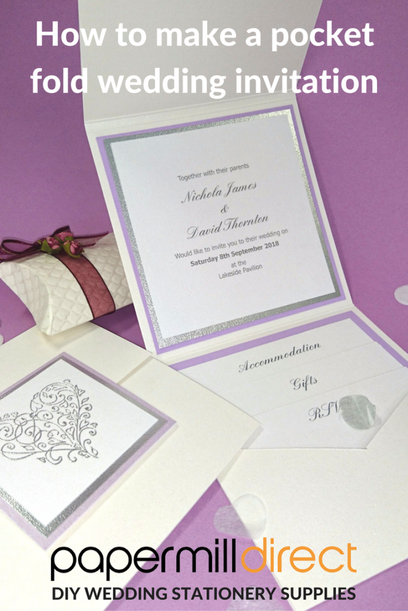 DIY Wedding Stationery - how to make a pocket fold wedding invitation