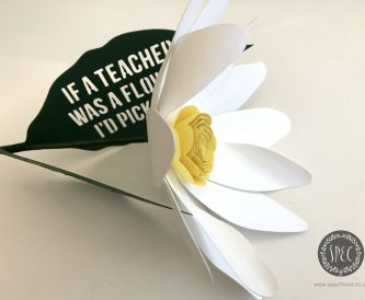Handmade Teacher's Gift Idea  'thank you' flower