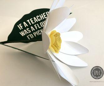 Handmade Teacher's Gift Idea  'thank you' flower