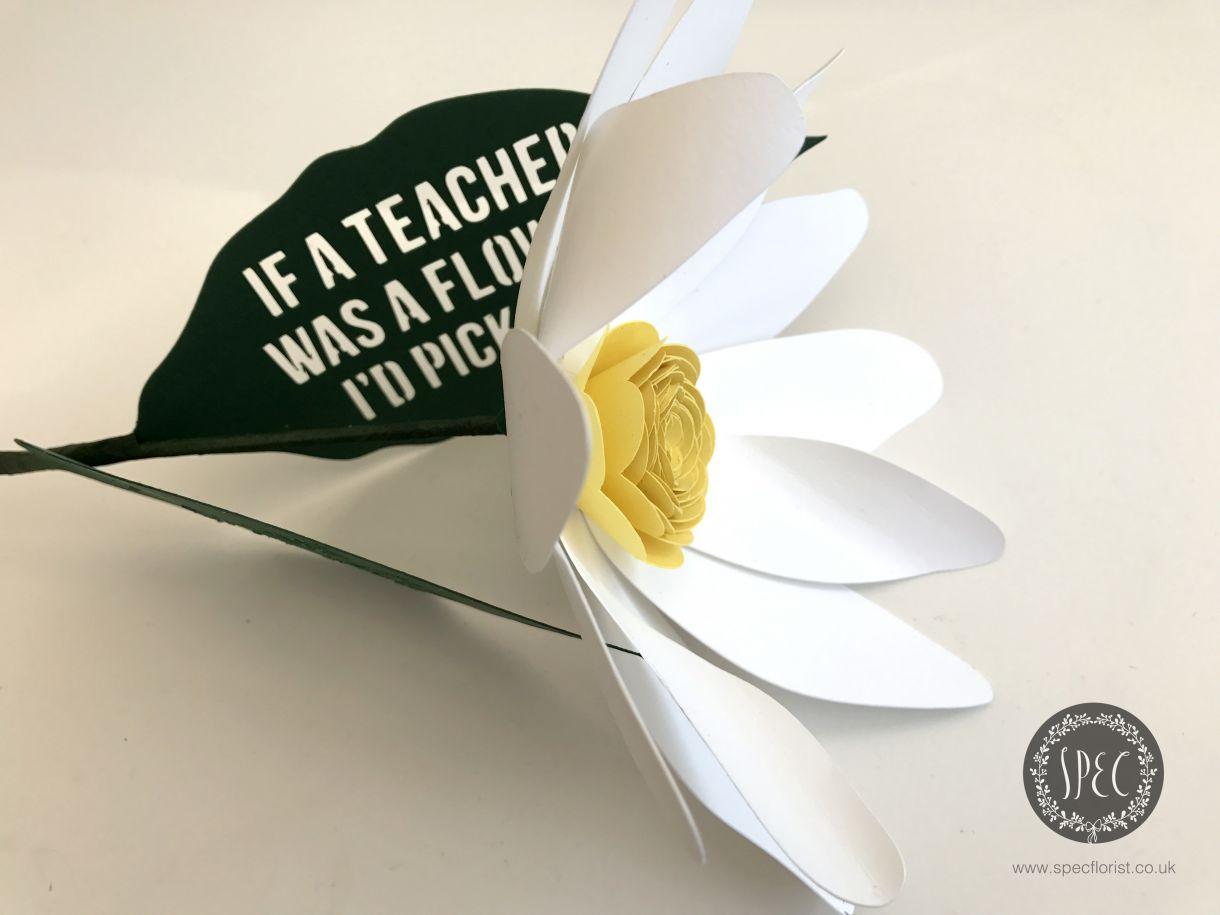 Handmade Teachers Gift Idea Thank You Flower