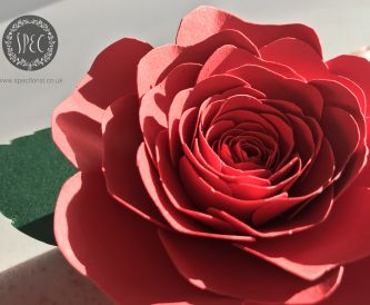 DIY Rose corsage made from paper