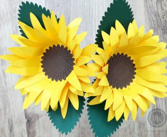 Sunflowers using sunflower card